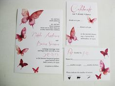 Watercolor Butterfly Wedding Invitations Dco by DColovenotes, $10.00