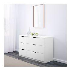 "220 Width: 47 1/4 "" Depth: 16 7/8 "" Depth of drawer: 15 3/8 "" Height: 29 1/2 "" NORDLI 6-drawer dresser  - IKEA"