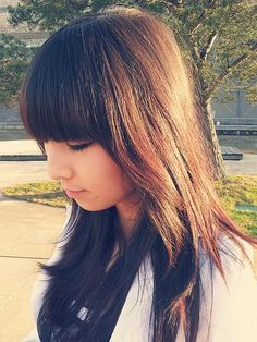 bangs with layered sides