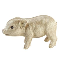 This adorable piggy will help your little ones save up for something special! This cute piggy is available in 3 colours: pink, silver and gold! This Little Piggy, Little Pigs, Floral Cushions, Money Bank, Cute Piggies, Piggy Bank, Dinosaur Stuffed Animal, How To Look Better, Amsterdam