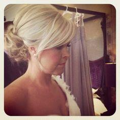 Wedding Hair up low bun blonde