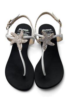 Crystal Starfish Flat Sandals