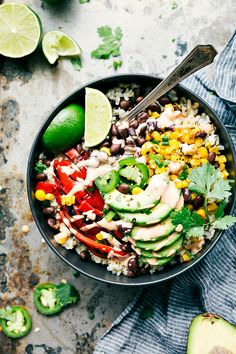 Healthy Mexican Street Corn Burrito Bowls | Summer Fiesta Recipe
