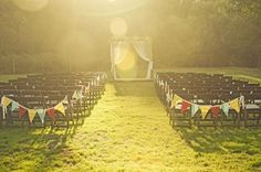 Bunting down the aisle