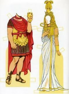 Cleopatra Paper Doll by Tom Tierney BeingCleopatra.blogspot.com