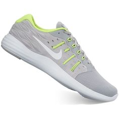 Nike LunarStelos Women's Running Shoes ($60) ❤ liked on Polyvore featuring shoes, athletic shoes, oxford, flexible shoes, nike shoes, fleece-lined shoes, oxford shoes and flexible running shoes