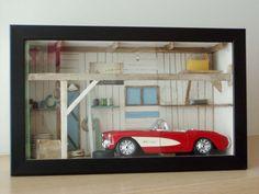 Garage diorama sculpture old style retro by ArktosCollectibles