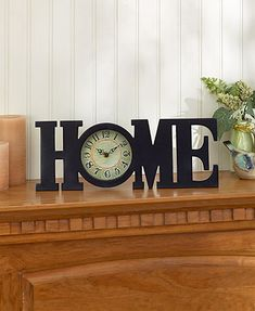 Add a nostalgic touch to your home decor with a Vintage Table Clock. It features an intentionally distressed finish and ornate hour, minute and second hands. Lo