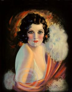 artdeco.quenalbertini: 1920's Deco Flapper by Q Wilson Hammell | Dragonfly Meadows Art on Etsy
