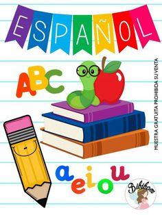 Portada español School Notes, I School, Back To School, Powerpoint Design Templates, School Clipart, Happy Design, Class Decoration, Memory Books, Home Schooling