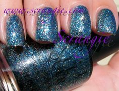 OPI Simmer And Shimmer (Multicolored/Blue Microglitter)