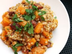 Couscous with Crispy Pancetta and Butternut Squash by Yasmin Fahr, seriouseats #Couscous #Butternut_Squash