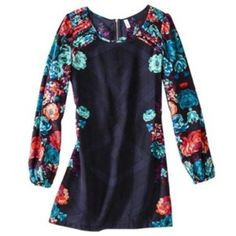 Floral Shift Mini Dress