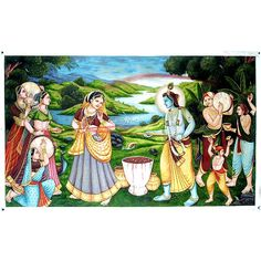 Holi, Legend of the love of RadheKrishna