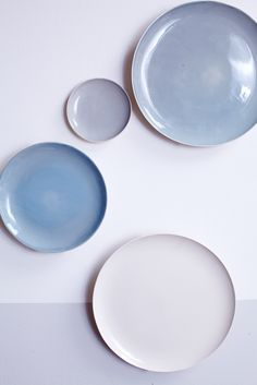 Shell Bisque Dinner Plate in Blue - Canvas Home
