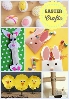 EASY Easter-Crafts-for-Kids - Ideas for kids of all ages - This is a great collection of ideas using things around the house.