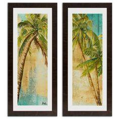 Beach Palm Wall Art Collection - BedBathandBeyond.com