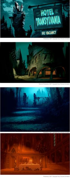 Mais Concept Arts do filme Hotel Transylvania | THECAB - The Concept Art Blog