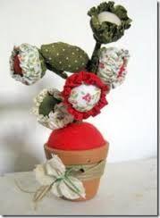 Resultado de imagem para flor de fuxico