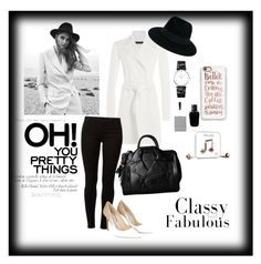"""Untitled #35"" by nurardisa on Polyvore featuring Ralph Lauren Black Label, Maison Michel, Dorothy Perkins, Jimmy Choo, Moschino, Longines, Givenchy, Casetify and Happy Plugs"