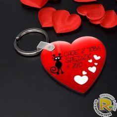 9c71ca6adefb68 Brelok serce z grafiką na Walentynki