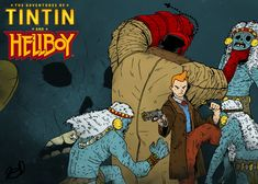 Les Aventures de Tintin - Album Imaginaire - Tintin and Hellboy