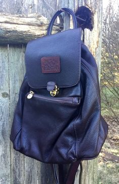 A vintage leather Valentina backpack by In Pell. Perfect commuter bag!