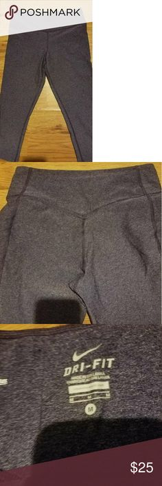 CLEARANCE!! Nike Dry-Fit ONE Legendary pant Nike Dry-Fit ONE Legendary pant workout Capri. Looks black, but they are a purple color. sz medium. Very nice thick material. 88% polyester, 12% spandex. Nike Pants Leggings