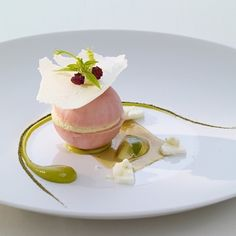 Rhubarb, Verveine, Yoghurt. By @thomasbuehner #DessertMasters