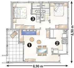 Apartamento de 79 m² na Bahia: despojado e colorido - Casa
