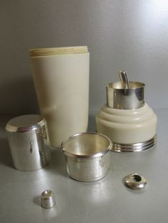 Art Deco Master Incolor / In Color Recipe Bakelite Cocktail Shaker Silver Plate | eBay