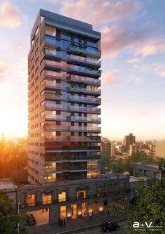 Building by A+V Studio , via Behance