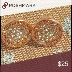 Rose gold Michael Kors logo plugy studs Super cute not heavy hypo allergenic studs brand-new without tags Michael Kors Jewelry Earrings