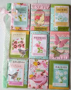 I'm hooked on POCKET LETTERS ...: Outgoing Pocket Letter - Spring