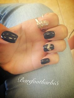 Chevron gray blue gold sparkle cute nails! And super easy!
