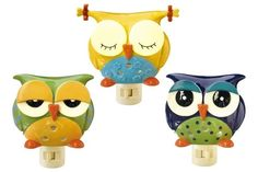 Night Owl Night Light - This would be cute done in glass.