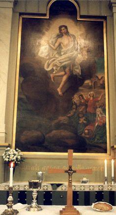 """""""Kuva on korkea alttarin seinäs: Pilvissä väikkyy siel Ihmisen Poika Sankarin katsannol, Mut ihanast hymyvät huulens Ja otsansa kimmeltää."""", kirjoitti Aleksis kivi  runossaan Rippilapset kirkon alttaritaulusta, jonka on maalannut C.P. Elfström vuonna 1832."""
