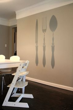 Dining room on pinterest dining rooms dining room art for Dining room metal wall art