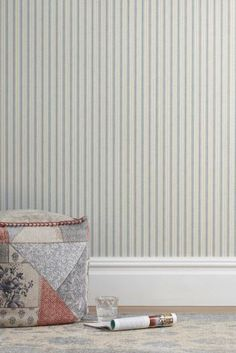 Buy Linen Look Stripe Wallpaper from the Next UK online shop Stripe Wallpaper, Butterfly Wallpaper, Pattern Making, Uk Online, New Homes, Floral, Shop, Bedroom Ideas, Interiors