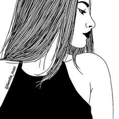 Uploaded by alegf. Find images and videos about girl, outline and drawing on We Heart It - the app to get lost in what you love.