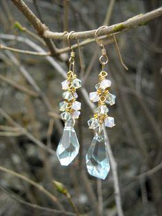 Swarovski crystal earrings by Tootsiejos on Etsy, $25.00