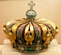 Crown of Eugenie de Montijo; Napoleon and Eugenie lived in exile in the U.K. She was the last surviving French person to have worn a crown.