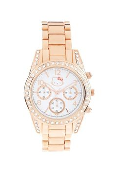 SO CUTE ): Rose Gold Hello Kitty Watch. Wish I had it.