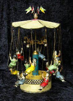 "*""KETTENKARUSSELL"" ~ Bing, c. 1895, German tin toy"