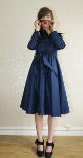 Trench manteau imperméable Bleu ZAWANN créateur made in france  : Manteau, Blouson, veste par zawann