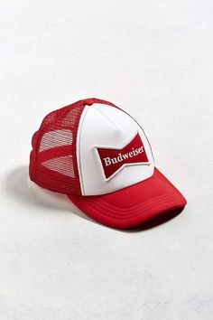 9e750fa1cd859 Urban Outfitters Budweiser Bow Tie Trucker Hat New Man Clothing