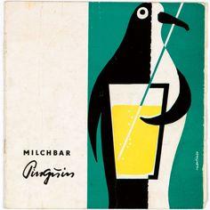 Speisekarte, Milchbar Pinguin, Leipzig, 1960er Jahre