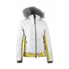 Mountain Force Women s Rider Print Jacket - Fur Wms 1516 -- White yellow  Multi Color Print 8b9d37b5b