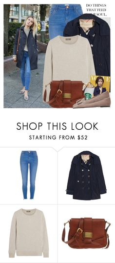 """""""2430. Blogger Style: Make Life Easier"""" by chocolatepumma ❤ liked on Polyvore featuring Oris, River Island, Burberry, N.Peal, Coccinelle and Pretty Ballerinas"""