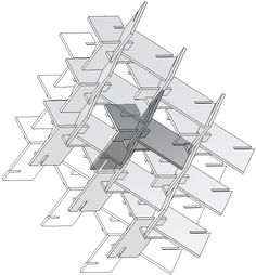 Reciprocal structure made with planar elements. Configuration by Alberto Pugnale